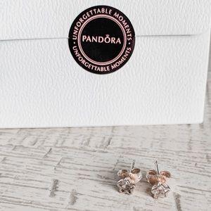 Pandora Sterling Silver Star Stud Earrings